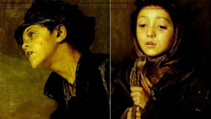 Крайние дети из картины Перова «Тройка»
