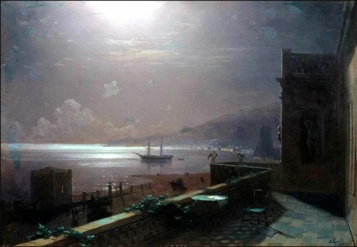 «Феодосия. Лунная ночь» И. К. Айвазовский, 1880 год