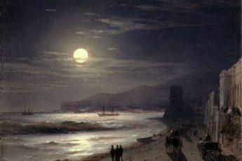 «Лунная ночь. Берег моря» И. К. Айвазовский, 1885 год