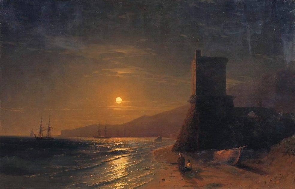 «Лунная ночь в Крыму» И. К. Айвазовский, 1862 год