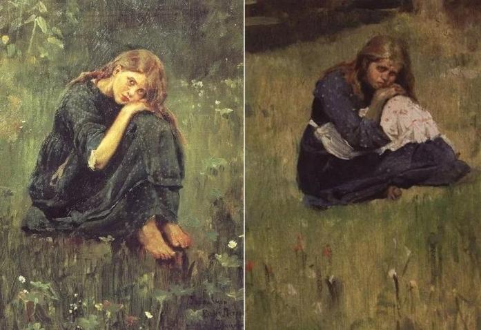 Виктор Васнецов. Этюды к картине «Аленушка», 1881 г.