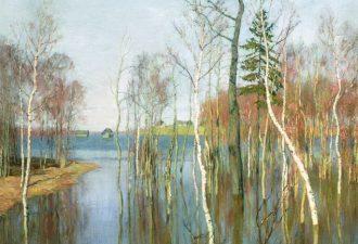 Исаак Ильич Левитан «Весна. Большая вода», 1897 год