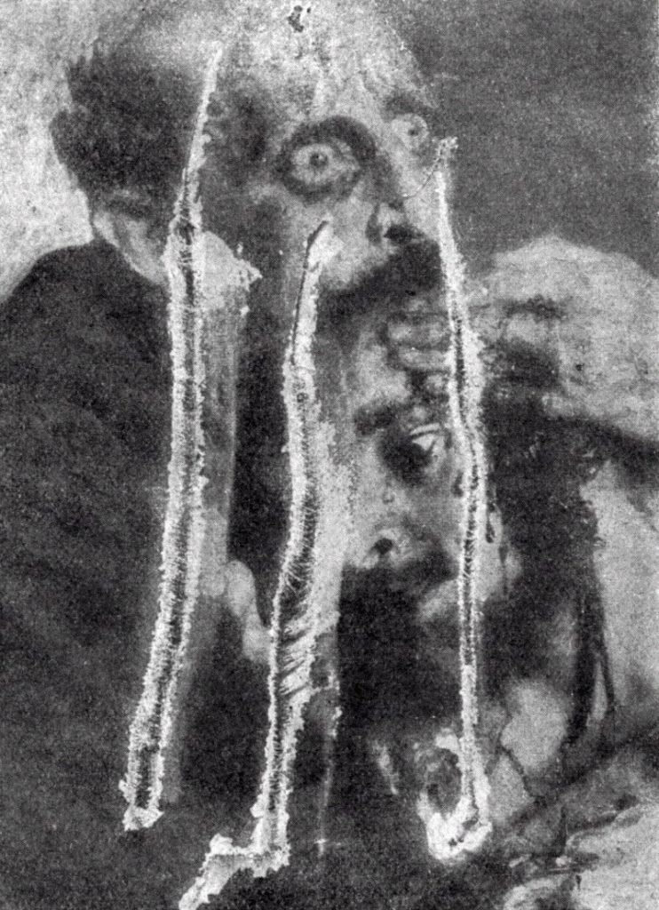 Порезанное полотно картины. 1913 год