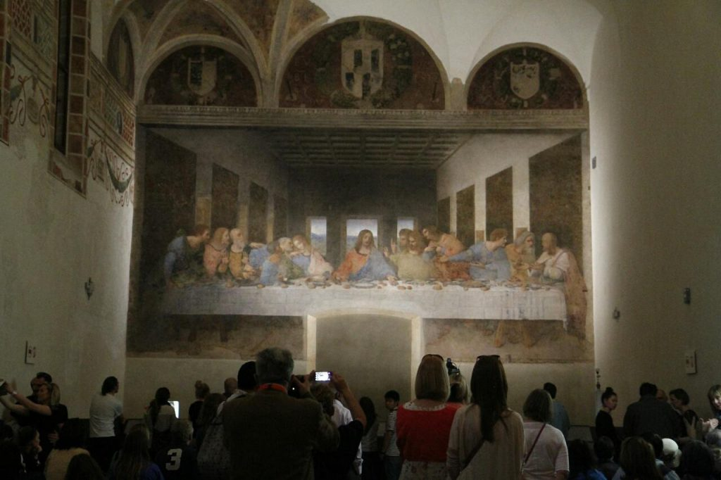 Фреска «Тайная вечеря на стене трапезной в Милане