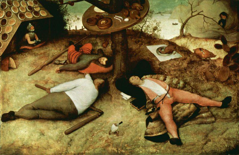 Питер Брейгель Старший «Страна лентяев», 1567 год