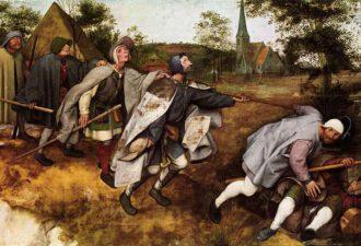 Питер Брейгель Старший «Притча о слепых», 1568 год