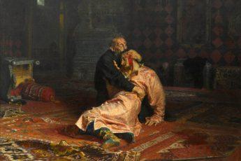 Илья Репин «Иван Грозный и сын его Иван 16 ноября 1581 года». 1883—1885 г