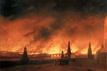 Иван Константинович Айвазовский «Пожар Москвы в 1812 года», 1851 год