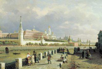 Пётр Верещагин «Вид Московского кремля», 1879 год
