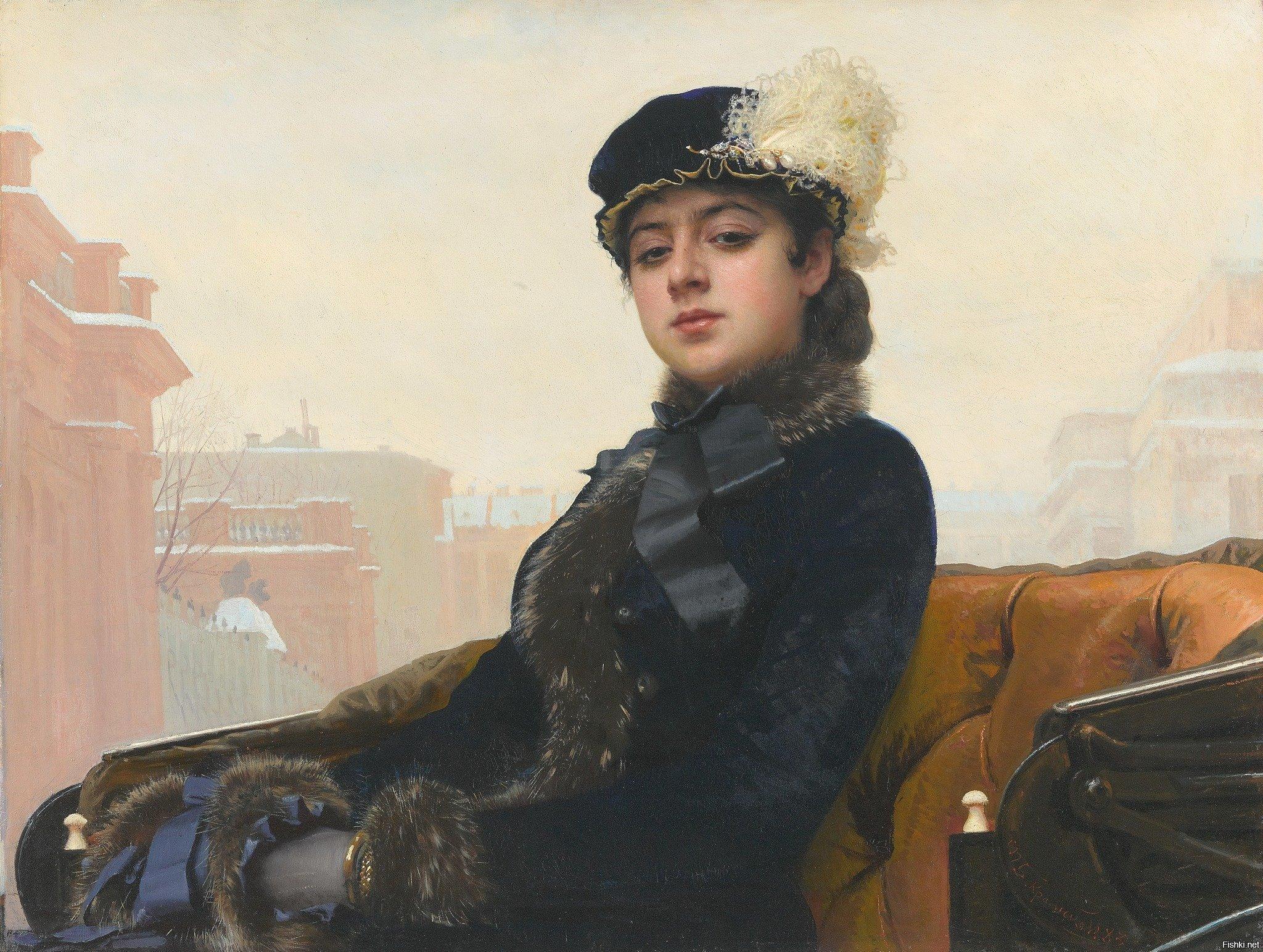 «Неизвестная» Иван Крамской, 1883 год