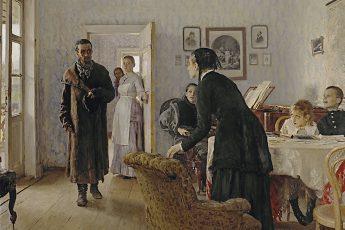 Илья Репин «Не ждали» 1884 год