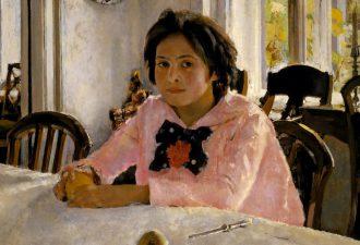 Валентин Серов, «Девочка с персиками», 1887 год