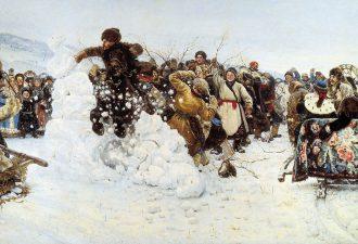 Василий Суриков «Взятие снежного городка», 1891 год