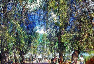 Исаак Бродский «Аллея парка», 1930 год