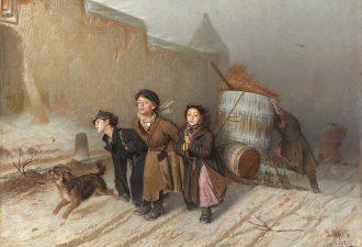 «Тройка» Василий Перов, 1866 год