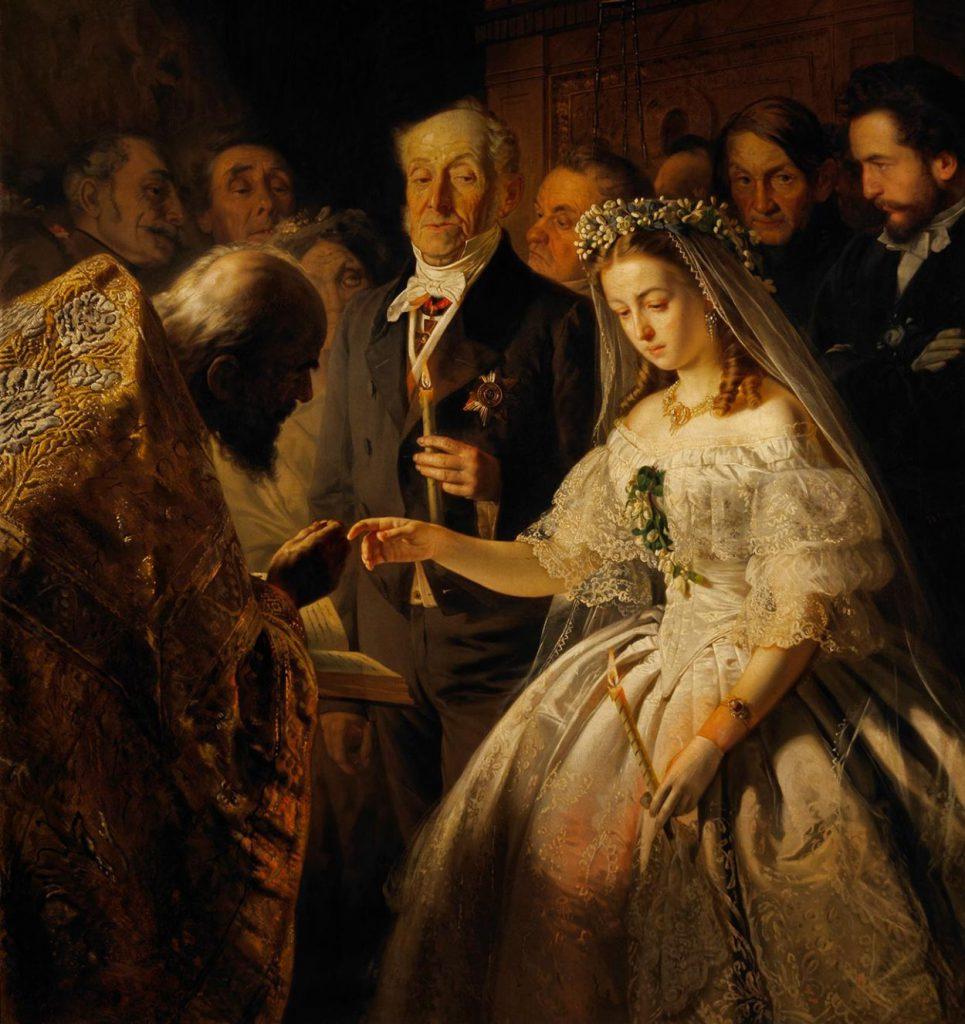 Василий Пукирев, «Неравный брак», 1862 год