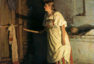 Василий Максимович Максимов «Кто там.?» 1879 год