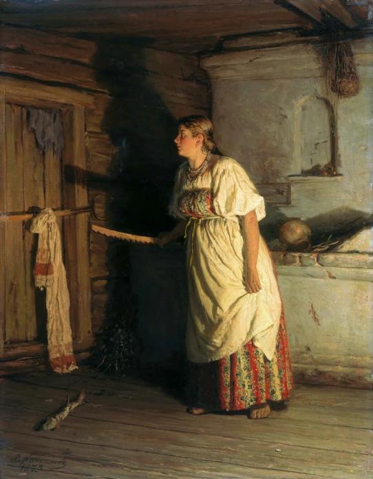 Василий Максимович Максимов «Кто там?» 1879 год