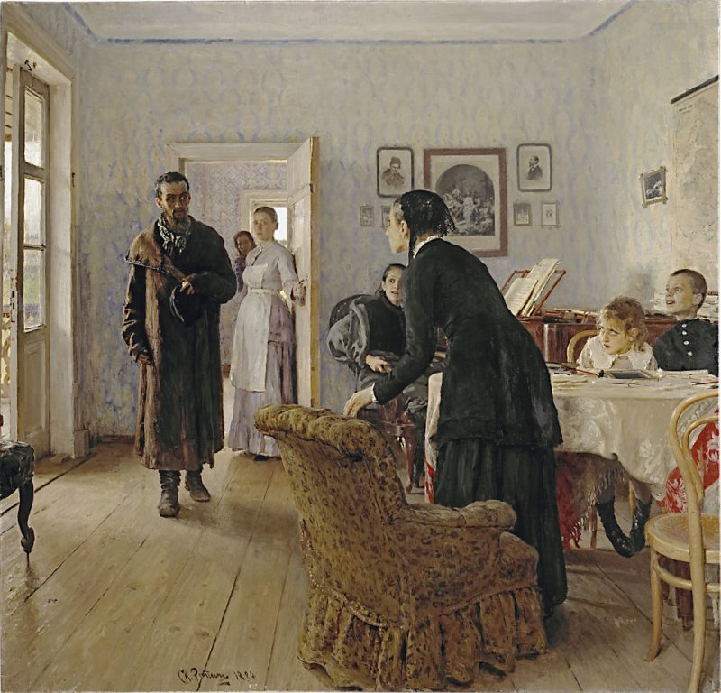 Илья Репин «Не ждали», 1884 год