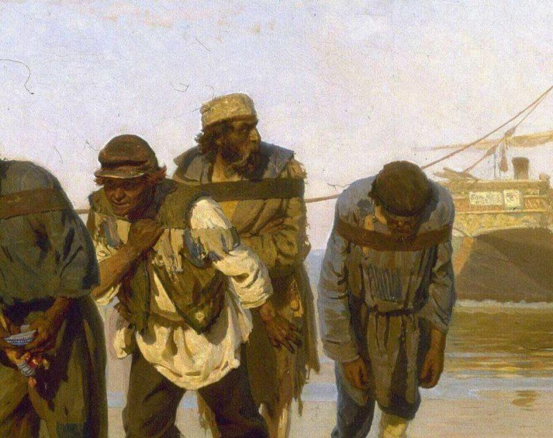 """Илья Репин. Деталь """"Бурлаков на Волге"""". 1873 г"""