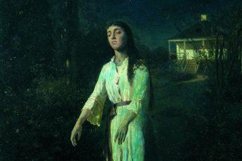 Иван Крамской «Сомнамбула», фрагмент