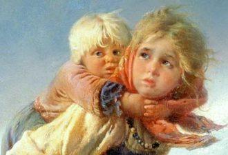 Константин Маковский, «Дети, бегущие от грозы», 1872 год