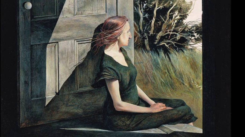 Эндрю Уайет. «Кристина Олсон». 1947 г. Галерея Кёртис, Миннеаполис