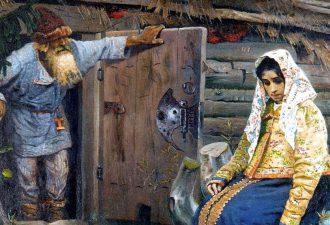 Михаил Нестеров «За приворотным зельем», фрагмент