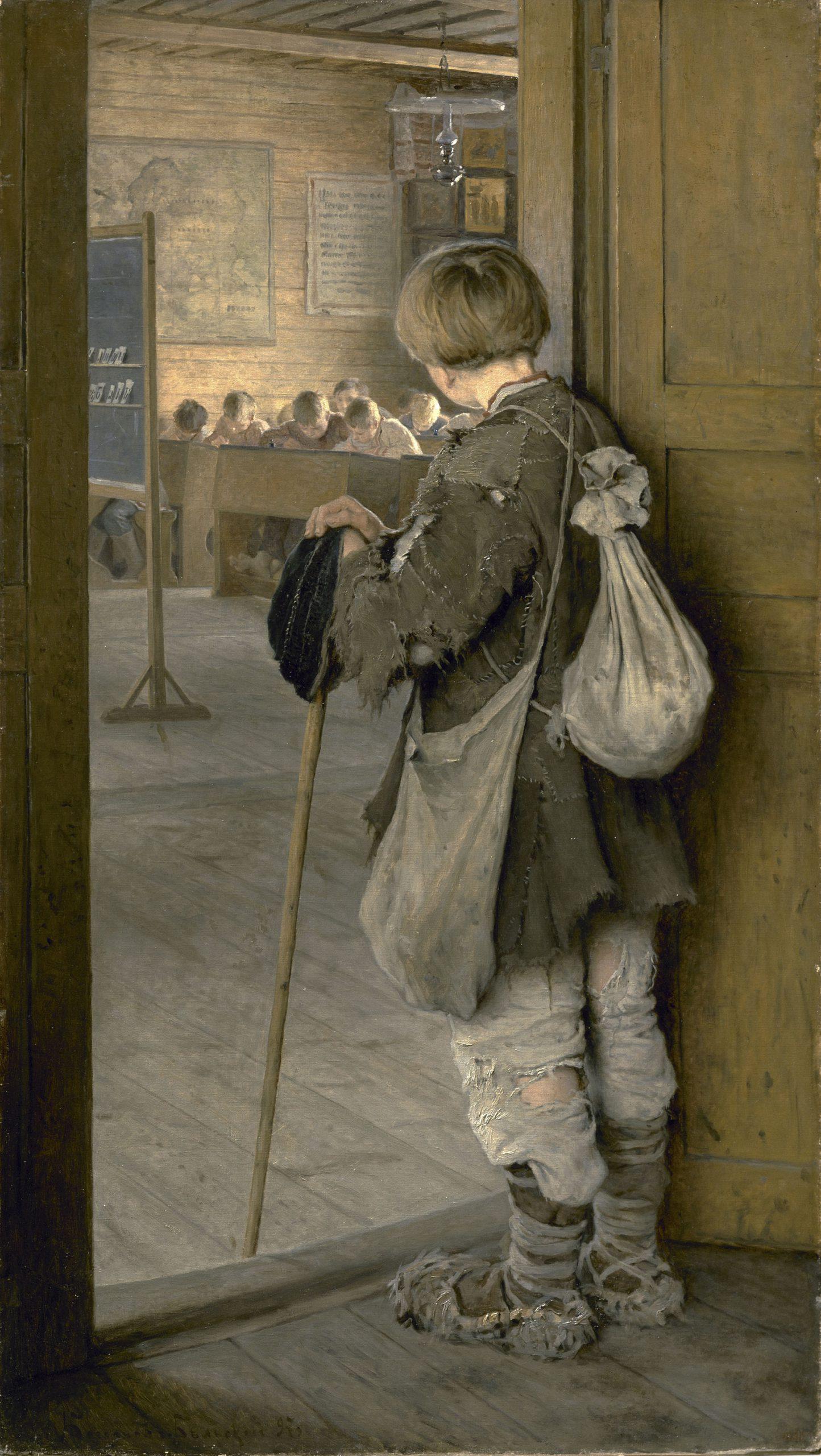 Николай Петрович Богданов-Бельский «У дверей школы», 1897 год