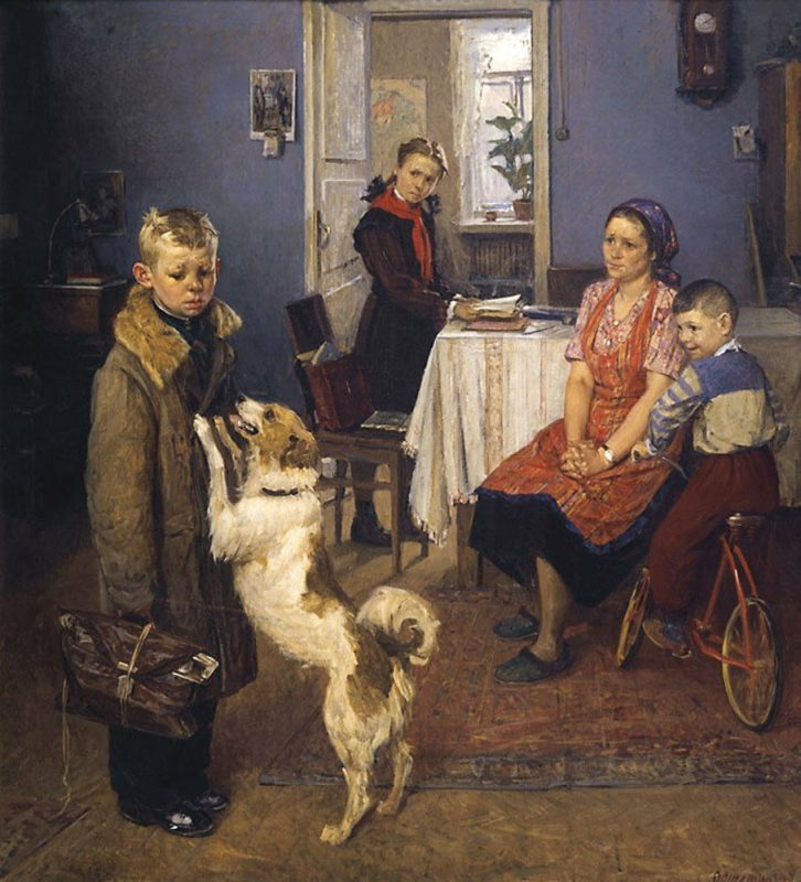 «Опять двойка» Фёдор Решетников, 1952 год