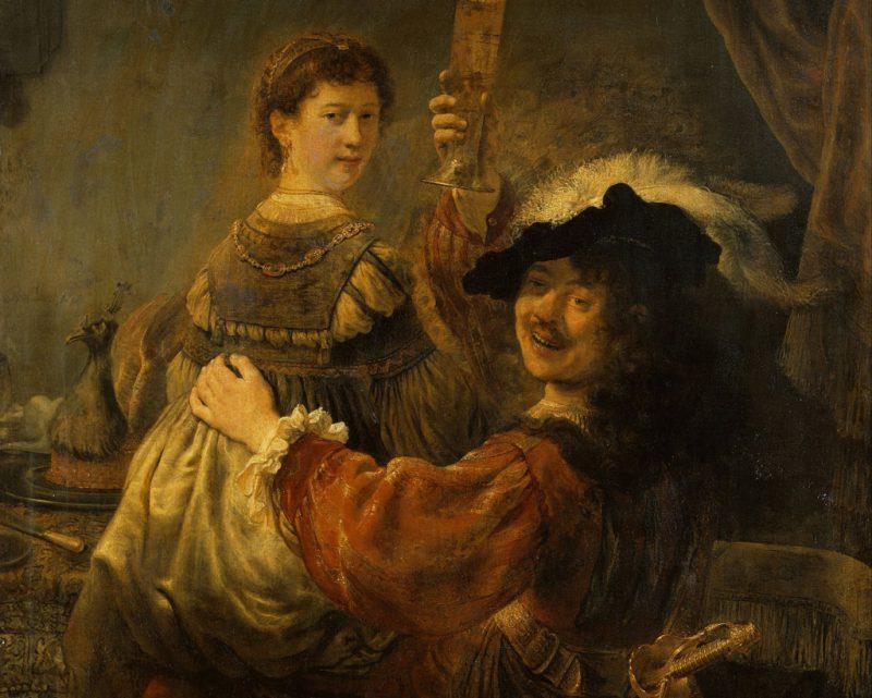 «Блудный сын в таверне» или «Автопортрет с Саскией на коленях» 1633 год