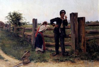 Александр Владимирович Маковский, «Надоела», 1897 год. Фото: wikipedia.org
