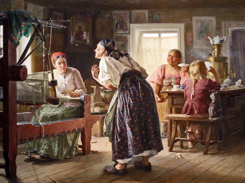 Василий Максимович Максимов «Лихая свекровь» (1893)