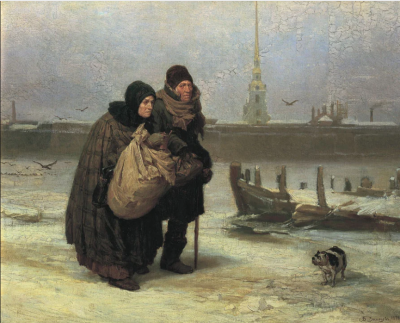 Виктор Васнецов «С квартиры на квартиру»,1876 год