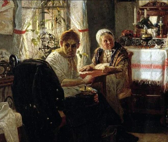 Михаил Нестеров «Домашний арест», фрагмент