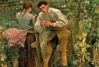 """Жюль Бастьен-Лепаж """"Деревенская любовь"""", 1882 год"""