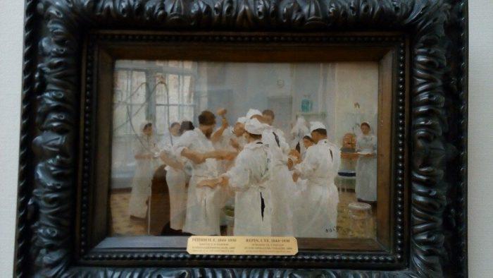 Картина «Хирург Павлов в операционном зале» в Третьяковской галерее