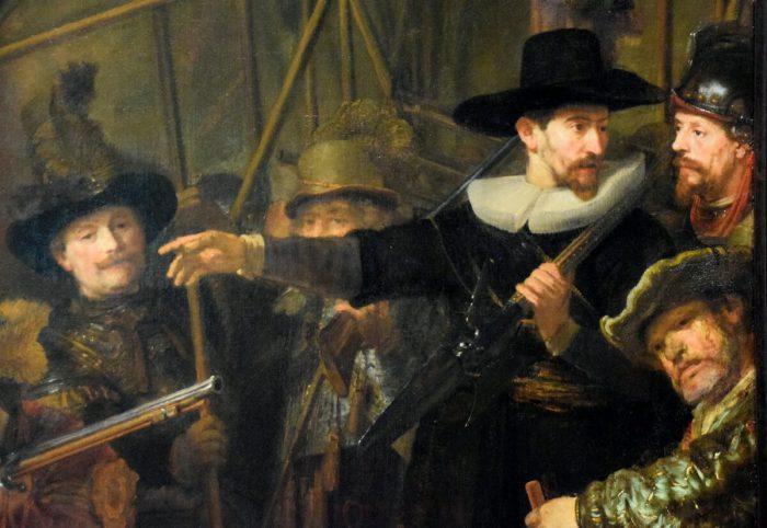 Рембрандт «Ночной дозор» , фрагмент