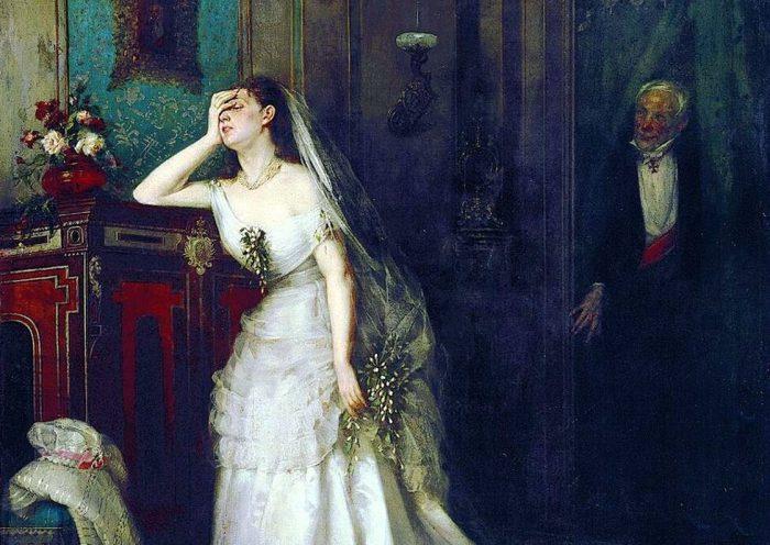 Фирс Журавлев «После свадебной церемонии» (После венчания), фрагмент