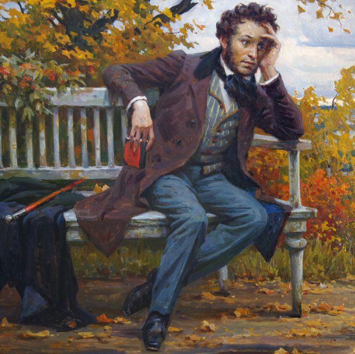 Борис Щербаков «Пушкин в Михайловском», фрагмент