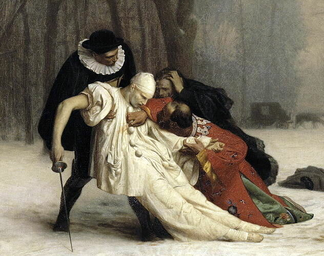 Жан-Леон Жером «Дуэль после маскарада», фрагмент