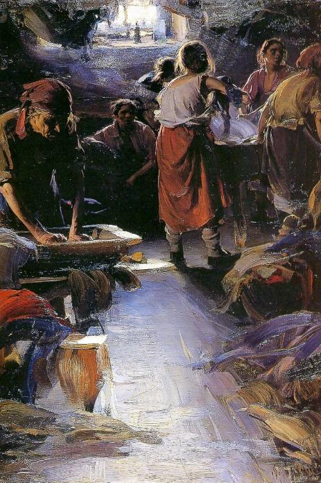 Абрам Ефимович Архипов «Прачки», первоначальный вариант картин