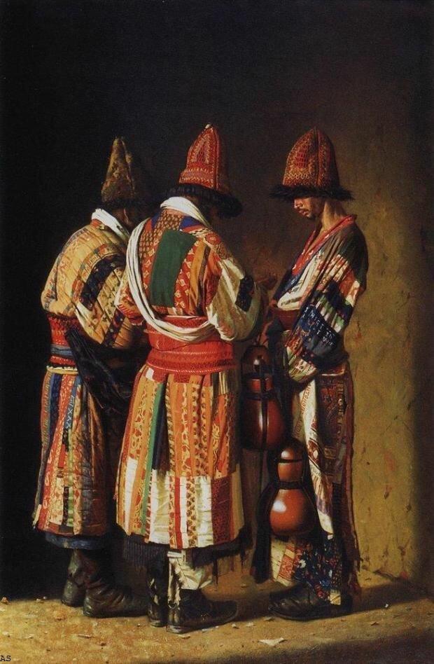 """Василий Верещагин """"Дервиши в праздничных нарядах"""", 1869 год"""