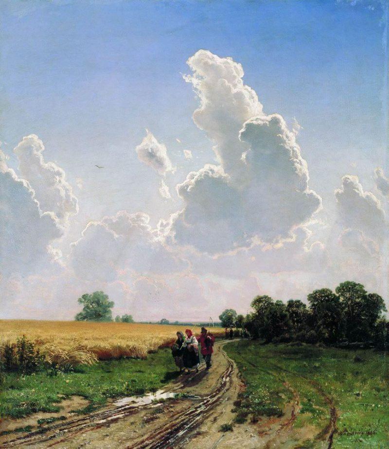 Шишкин И.И. «Полдень. Окрестности Москвы. Братцево», 1866 год