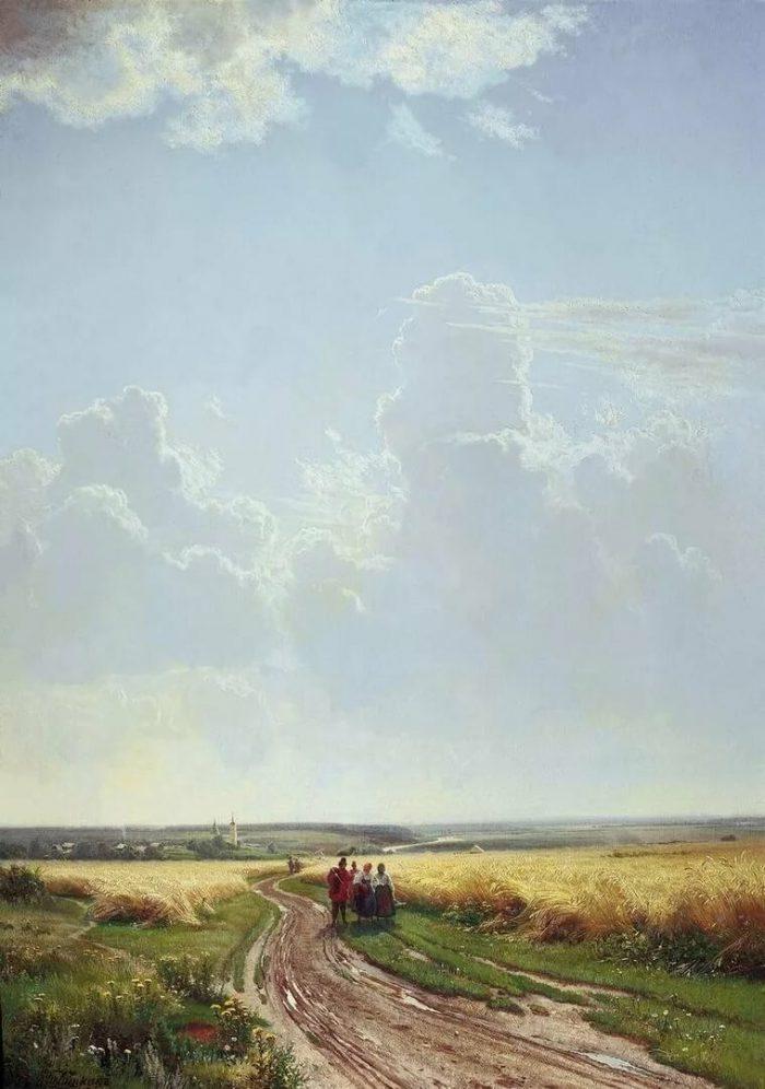 Шишкин И.И. «Полдень. В окрестностях Москвы», 1869 год