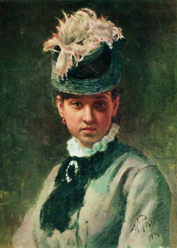 И. Е. Репин «Портрет жены художника — Веры Алексеевны Репиной», 1876 год