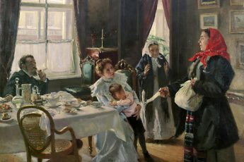 Владимир Маковский «Две матери. Мать приемная и родная», 1905 год