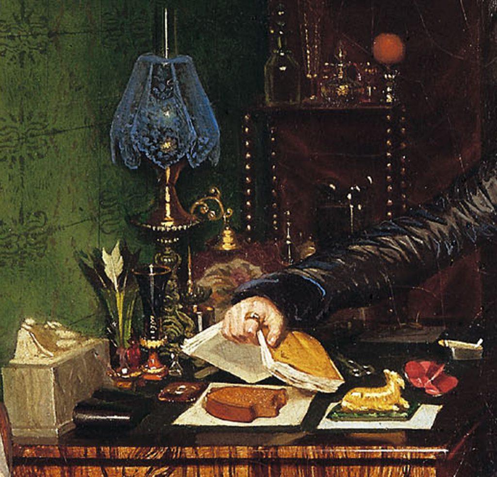 Павел Федотов «Завтрак аристократа», фрагмент