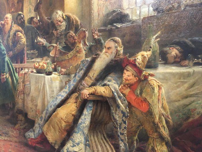 Владимир Маковский «Поцелуйный обряд», фрагмент