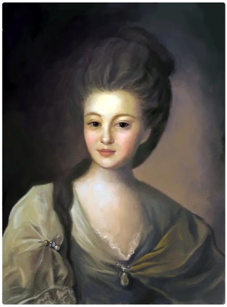Фёдор Степанович Рокотов «Портрет Струйской», 1772 год